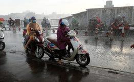 Chuva pesada pela baixa pressão tropical Imagens de Stock Royalty Free