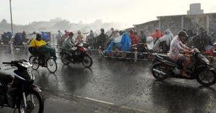 Chuva pesada pela baixa pressão tropical Fotografia de Stock Royalty Free