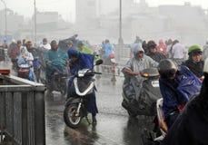 Chuva pesada pela baixa pressão tropical Imagem de Stock