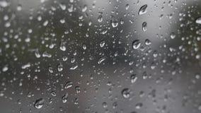 Chuva que cai no vidro durante a tempestade da chuva imagem de stock royalty free