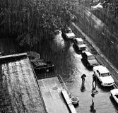 Chuva torrencial Imagens de Stock