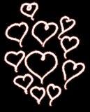 Chuveirinho do coração do amor fotos de stock