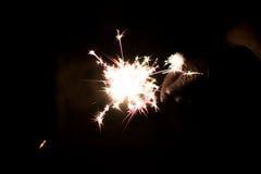 Chuveirinho pirotécnico Equipamento de iluminação para o ano novo e o Natal Foto de Stock Royalty Free