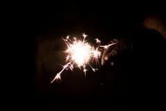 Chuveirinho pirotécnico Equipamento de iluminação para o ano novo e o Natal Imagens de Stock