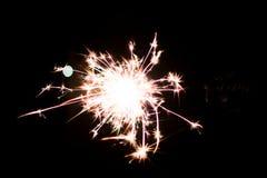 Chuveirinho pirotécnico Equipamento de iluminação para o ano novo e o Natal Imagens de Stock Royalty Free