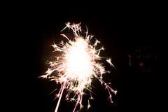 Chuveirinho pirotécnico Equipamento de iluminação para o ano novo e o Natal Imagem de Stock