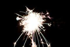 Chuveirinho pirotécnico Equipamento de iluminação para o ano novo e o Natal Foto de Stock