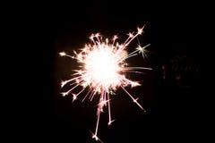 Chuveirinho pirotécnico Equipamento de iluminação para o ano novo e o Natal Fotografia de Stock Royalty Free