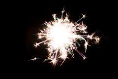 Chuveirinho pirotécnico Equipamento de iluminação para o ano novo e o Natal Fotografia de Stock