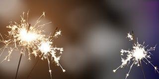 Chuveirinhos - véspera/celebração do ` s do ano novo/ano novo Fotos de Stock