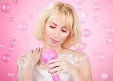 Chuveiro cor-de-rosa Imagem de Stock Royalty Free