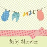 Chuveiro de bebê ou cartão de chegada Foto de Stock