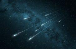 Chuveiro de meteoro na Via Látea ilustração royalty free