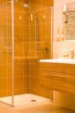 Chuveiro moderno do banheiro Imagem de Stock Royalty Free