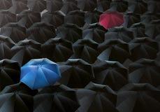 Chuvisco dos guarda-chuvas Imagens de Stock