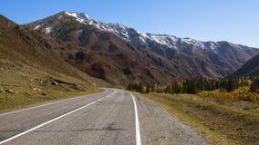 Chuya autostrada i Altai góry, Altai republika Zdjęcie Royalty Free
