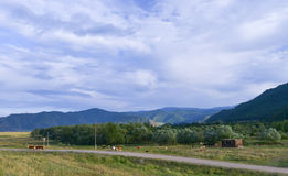 Chuya Highway or Chuysky Trakt in Altai, Siberia Royalty Free Stock Image