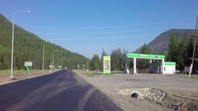 Chuysky Trakt near the village Aktash. Altai Republic, Russia - July 15, 2015: Chuysky Trakt near the village Aktash stock footage