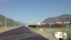 Chuysky Trakt near the village Aktash. Altai Republic, Russia - July 15, 2015: Chuysky Trakt near the village Aktash stock video