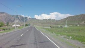 Chuysky Trakt near the village Small Yaloman. Altai Republic, Russia - July 14, 2015: Chuysky Trakt near the village Small Yaloman stock video footage