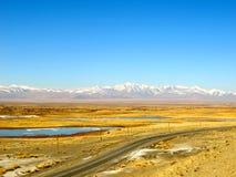 Chuyskylandstreek - de weg aan Mongolië Stock Foto's