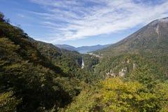Chuzen-ji Lake,Kegon-no-taki Falls and Mt. Nantai seen from Akechi-daira Ropeway viewpoint,Nikko,Tochigi,Japan Royalty Free Stock Image