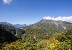 Chuzen-ji Lake and Kegon-no-taki Falls, Ropeway viewpoint,Nikko,Tochigi,Japan Stock Photo