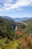 Chuzen-ji Lake and Kegon-no-taki Falls seen from Akechi-daira Ropeway viewpoint,Nikko,Tochigi,Japan Royalty Free Stock Photo