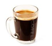 Chávena de café de vidro Imagens de Stock Royalty Free