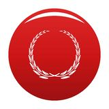 Chwała wianku ikony wektoru czerwień ilustracja wektor