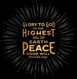 Chwała bóg w Wysokim ilustracji