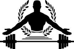 Chwała bodybuilding royalty ilustracja