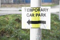 Chwilowy parking samochodowego znak obraz stock