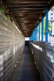 Chwilowy zwyczajny tunel w budowa terenie fotografia stock