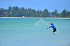 Chwyt ryba z tradycyjną metodą Fotografia Stock