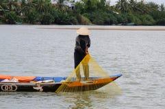 chwyta fisher ciągnięcie sieci ciągnięcie Obraz Royalty Free