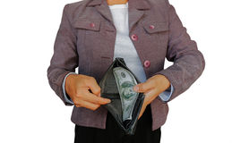 Chwyta pieniądze obrazy stock