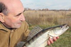 chwyta rybak jego Zdjęcie Stock