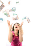 chwytający pieniądze Zdjęcie Royalty Free