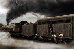 chwytający pociąg Obraz Royalty Free