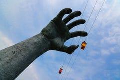 chwytający ręka gigant Obraz Stock