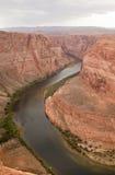 chyłu Colorado podkowy rzeka zdjęcia stock