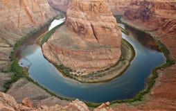 chyłu Colorado podkowy rzeka zdjęcie stock