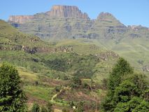 Drakensberg Mountains. Chyampagne Castle in the Natal Drakensberg Stock Photography