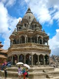 Chyasi Deval Krishna Temple em Patan, Nepal fotografia de stock