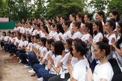 Chybienie Ponadnarodowy Tajlandia 2017, Campingowa wycieczka i aktywność, Obrazy Royalty Free
