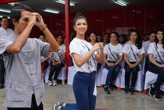 Chybienie Ponadnarodowy Tajlandia 2017, Campingowa wycieczka i aktywność, Obrazy Stock