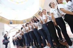 Chybienie Ponadnarodowy Tajlandia 2017, Campingowa wycieczka i aktywność, Fotografia Stock
