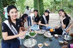 Chybienie Ponadnarodowy Tajlandia 2017, Campingowa wycieczka i aktywność, Obraz Stock