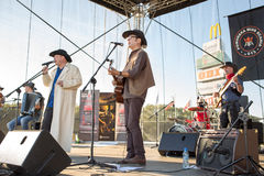 Chybienie Scania. Muzyka country koncert. Zdjęcie Royalty Free